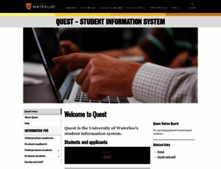 quest.uwaterloo.ca screenshot