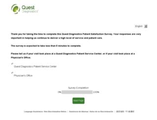 questdiagnosticsfeedback.com screenshot