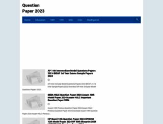 question-paper.in screenshot