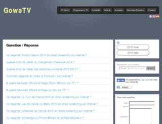 question-reponse.gowatv.com screenshot