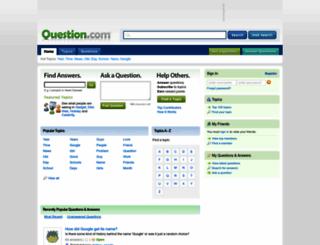 question.com screenshot