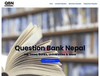 questionbanknepal.com screenshot