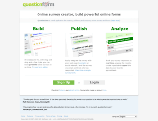 questionform.com screenshot