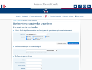 questions.assemblee-nationale.fr screenshot