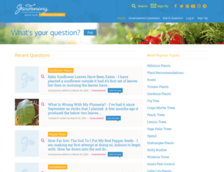 questions.gardeningknowhow.com screenshot