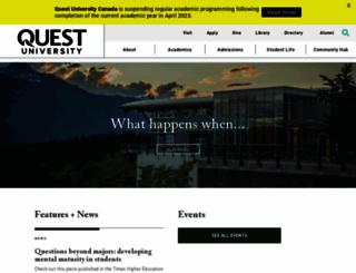 questu.ca screenshot