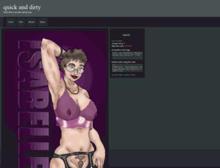 quickanddirty.thecomicseries.com screenshot
