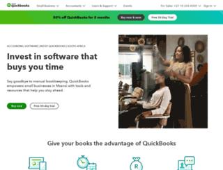 quickbooks.intuit.co.za screenshot