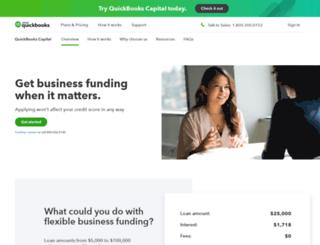 quickbooksfinancing.intuit.com screenshot