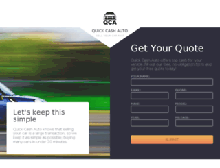 quickcashauto.com screenshot