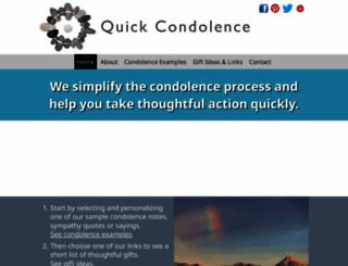 quickcondolence.com screenshot