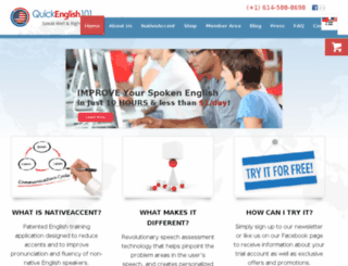quickenglish101.com screenshot