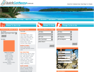 quickgetaways.com.au screenshot