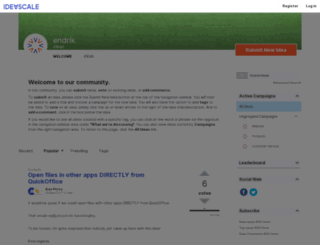 quickoffice.ideascale.com screenshot