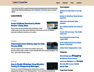 quickonlinetips.com screenshot