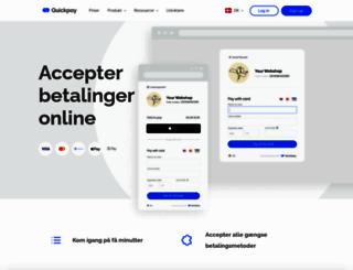 quickpay.dk screenshot