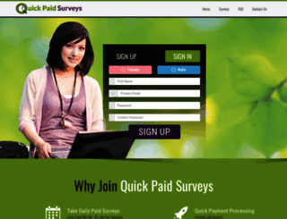 quickpaysurvey.com screenshot