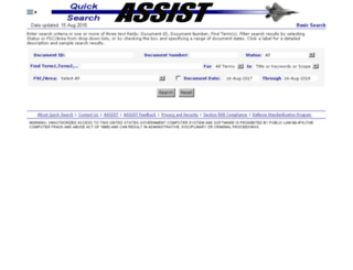 Welcome to the ASSIST (Database for Military ...