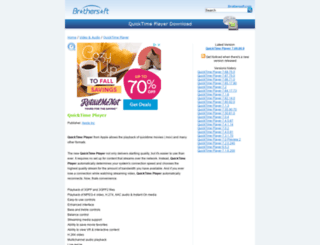 quicktime-player.brothersoft.com screenshot