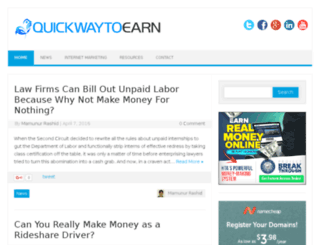 quickwaytoearn.com screenshot