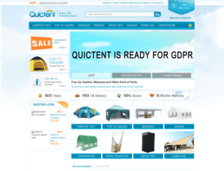 quictents.co.uk screenshot