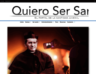quierosersanto.com screenshot