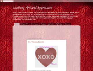 quilling.blogspot.com screenshot