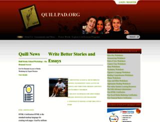 quillpad.org screenshot