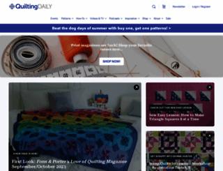 quiltingdaily.com screenshot