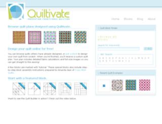 quiltivate.com screenshot