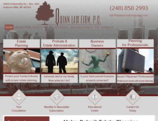 quinnestateplanning.avvosites.com screenshot