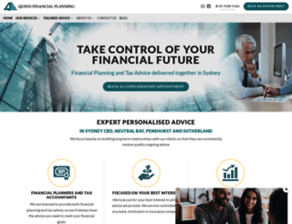 quinnfinancialplanning.com.au screenshot