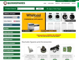 quinnspares.ie screenshot