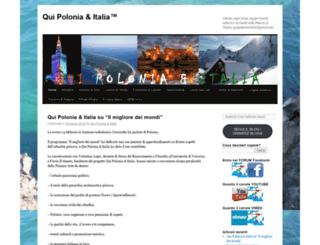 quipoloniaeitalia.wordpress.com screenshot