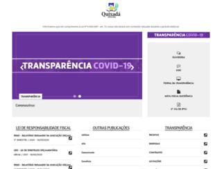quixada.ce.gov.br screenshot