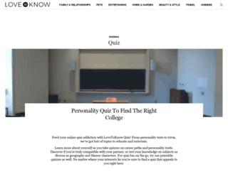 quiz.lovetoknow.com screenshot