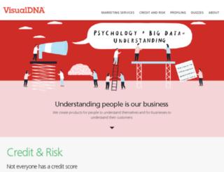quiz.visualdna.com screenshot