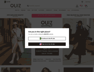 quizclothing.com.pk screenshot