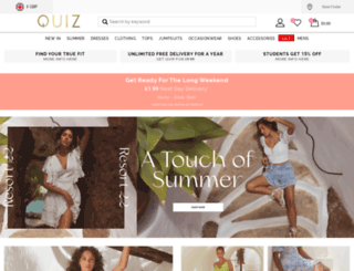 quizclothing.com screenshot