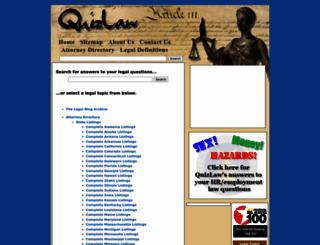 quizlaw.com screenshot