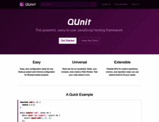 qunitjs.com screenshot