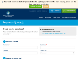 quote.progressivewaste.com screenshot