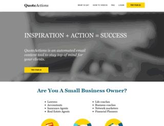 quoteactions.com screenshot