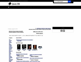 quotedb.com screenshot