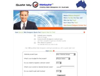 quotemywebsite.com.au screenshot