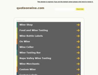 quoteonwine.com screenshot