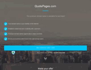 quotepages.com screenshot