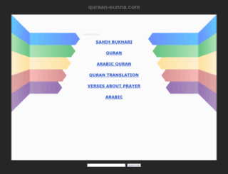 quraan-sunna.com screenshot