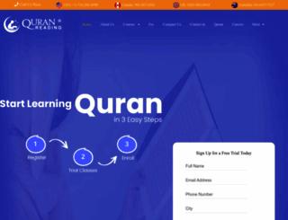 quranreading.com screenshot