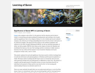 qurantm1.wordpress.com screenshot